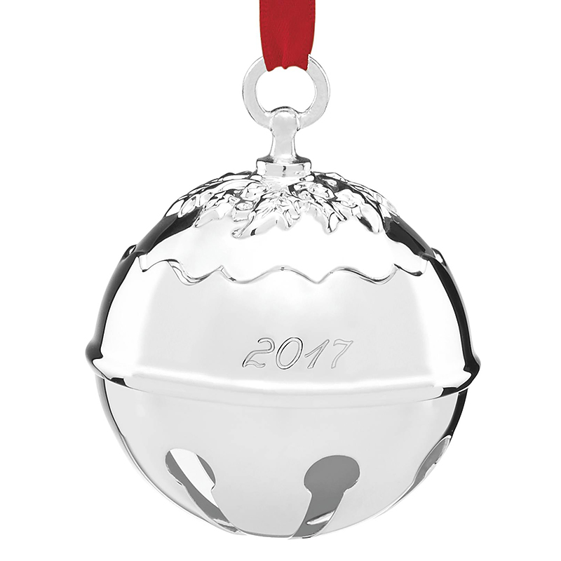 Silver Bells Decorations Custom Holly Bell Ornament  Reed And Barton Christmas Ornament Review