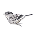 Reed and Barton Chickadee Bird Clip Ornament