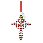 2018 Reed and Barton Annual Jeweled Cross, 1st Edition Ornament