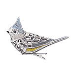 Reed and Barton Tufted Titmouse Bird Clip Ornament