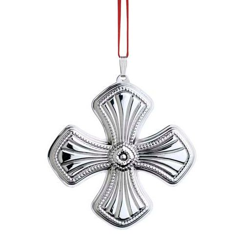 Reed barton annual christmas cross sterling silver
