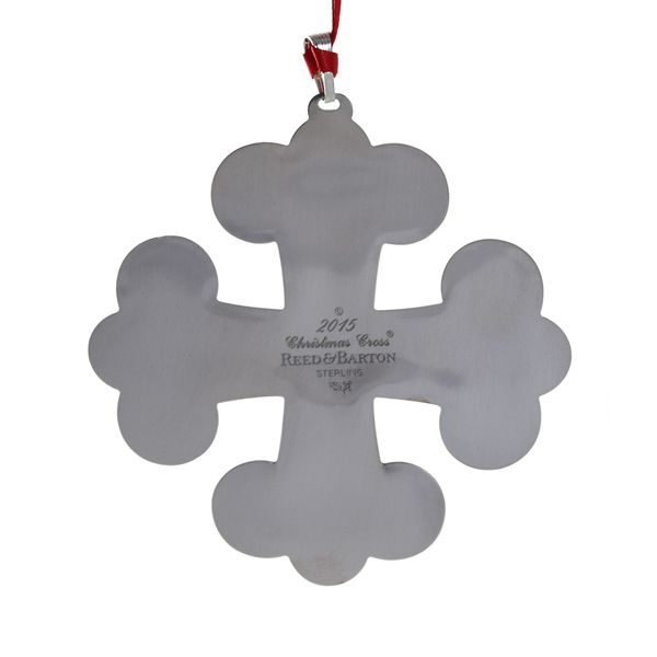 2015 Reed & Barton Annual Christmas Cross Sterling Silver Ornament