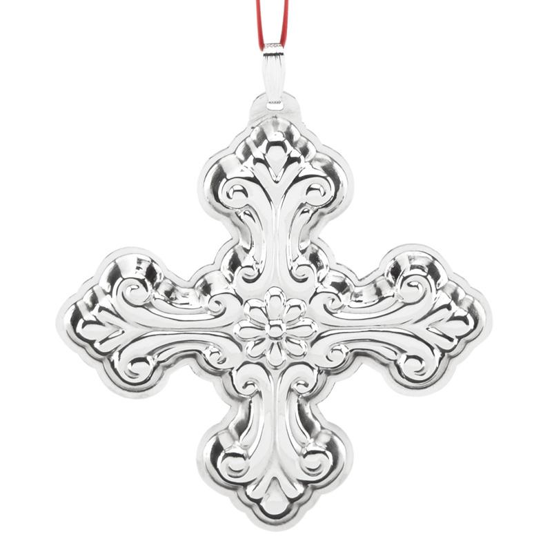 Silver Cross 2016 | Reed and Barton Christmas Ornament | Christmas Cross