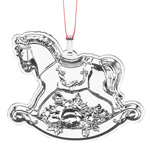 2016 Reed and Barton Francis I Annual Sterling Silver Christmas Ornament, Rocking Horse