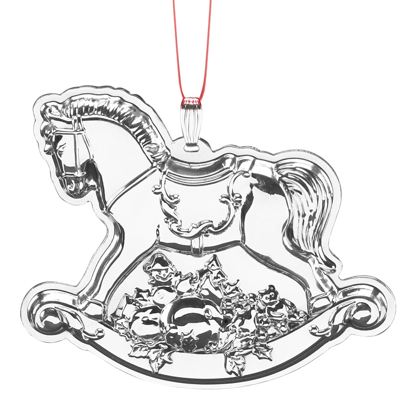 reed and barton 2016 francis i annual ornament rocking horse christmas tree decoration reed - Horse Christmas Ornaments