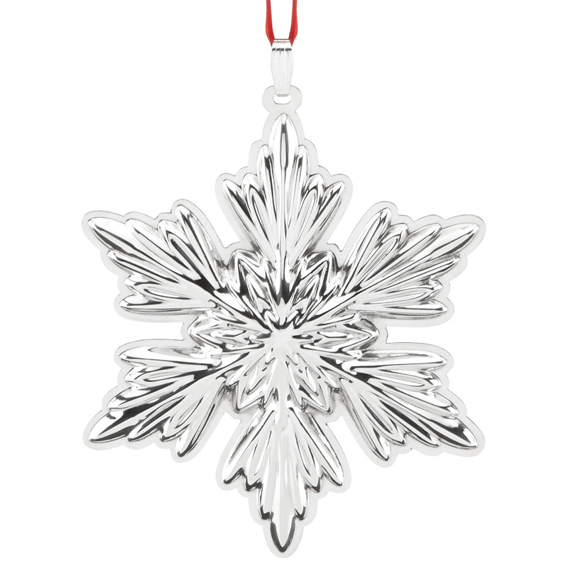 Holiday snowflake ornament 2016 reed and barton for Holiday christmas ornaments