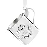 2017 Reed and Barton Baby's First Christmas Cup Sterling Silver Ornament