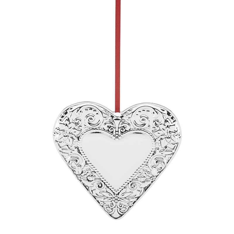 Reed and Barton 2018 Annual Heart Christmas Tree Decoration | Reed and Barton Ornaments