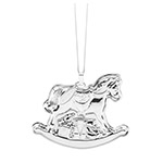 2018 Baby's First Rocking Horse Sterling Silver Ornament