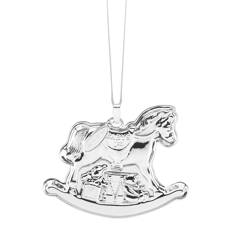reed and barton 2018 babys first christmas rocking horse christmas tree decoration reed and barton - Horse Christmas Ornaments