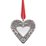 2019 Reed and Barton Annual Heart Silver Christmas Ornament