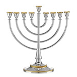 Nickel Plate Roseland Menorah by Reed and Barton