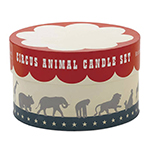 Reed and Barton Circus Animal Candle Set Display Box