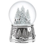 Reed and Barton North Pole Bound Reindeer Snow Globe