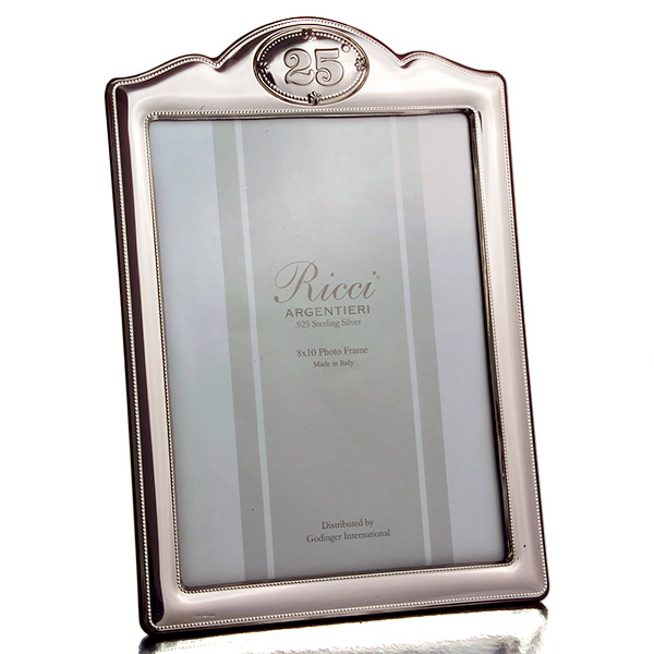 25th Anniversary Sterling silver picture frame by Ricci