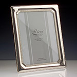 Ricci Tri-Bead Sterling Silver Picture Frame