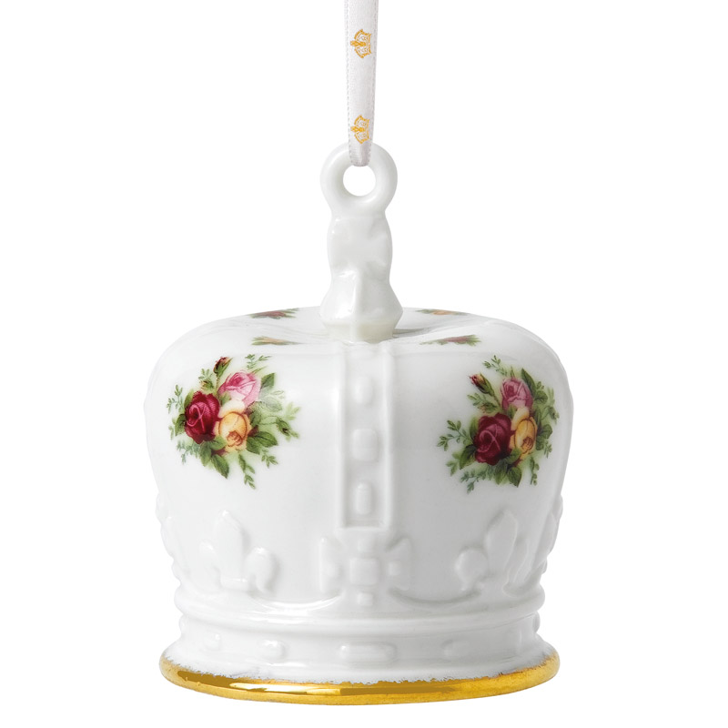 Old country rose crown royal albert christmas ornament for Christmas crown decoration