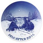 2014 Royal Copenhagen Bing and Grondhal Christmas Plate Porcelain Collectible