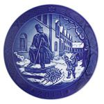 2014 Royal Copenhagen Christmas Plate Porcelain Collectible