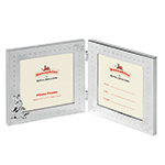 Silver Plated Bunnykins Double Picture Frame