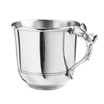 Bow Handle Pewter Baby Cup