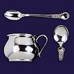 Baby Cup and Feeding Spoons Gift Set by Salisbury Pewter