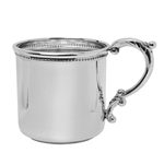 Salisbury Sterling Silver Scroll Handle Beaded Baby Cup