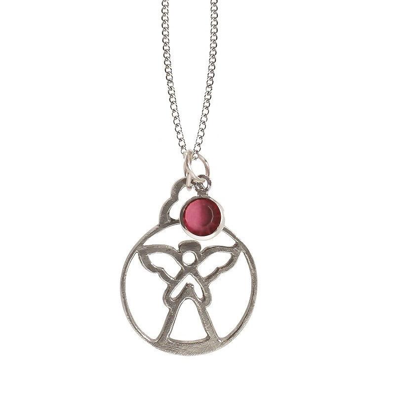Salisbury Gifts | October Birthstone Angel Pendant