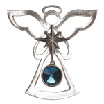 Salisbury Pewter Birthstone Angel Ornament - December Tanzanite