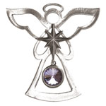 Salisbury Pewter Birthstone Angel Ornament - June Alexandrite