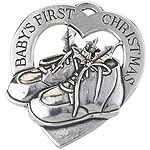 Baby's First Christmas Salisbury Pewter Christmas Ornament
