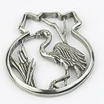Salisbury Pewter Blue Heron Christmas Ornament