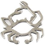 Salisbury Pewter Contemporary Crab Christmas Ornament
