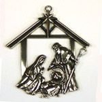 Salisbury Pewter Nativity Christmas Ornament