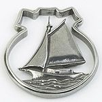Salsibury Pewter Sailboat Christmas Ornament