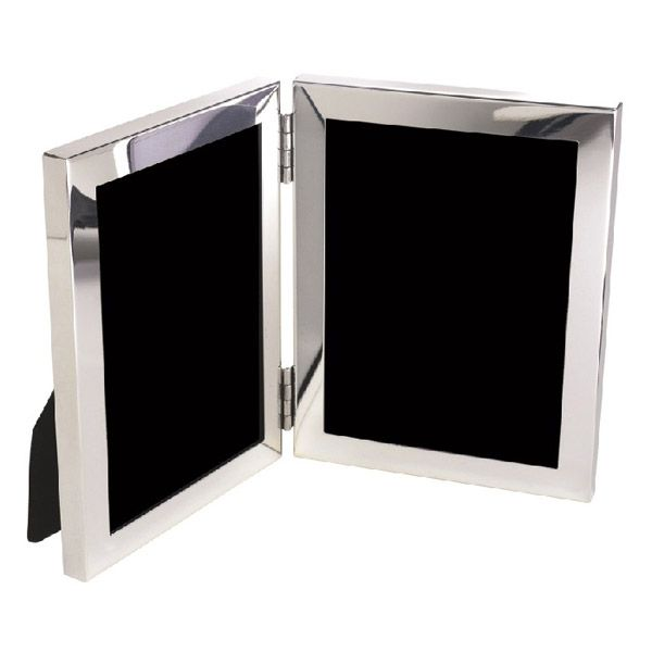 Salisbury Sterling Silver Classic Double Picture Frames | Engravable