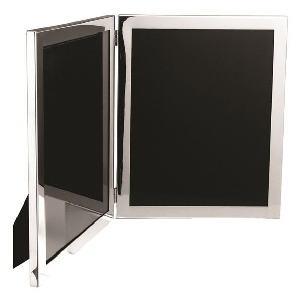 Salisbury Sterling Silver Classic Double Picture Frames Engravable
