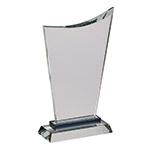 Sheridan Clear Glass Wave Trophy