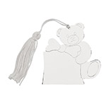 Sheridan Teddy Bear Ornament w/White Tassel