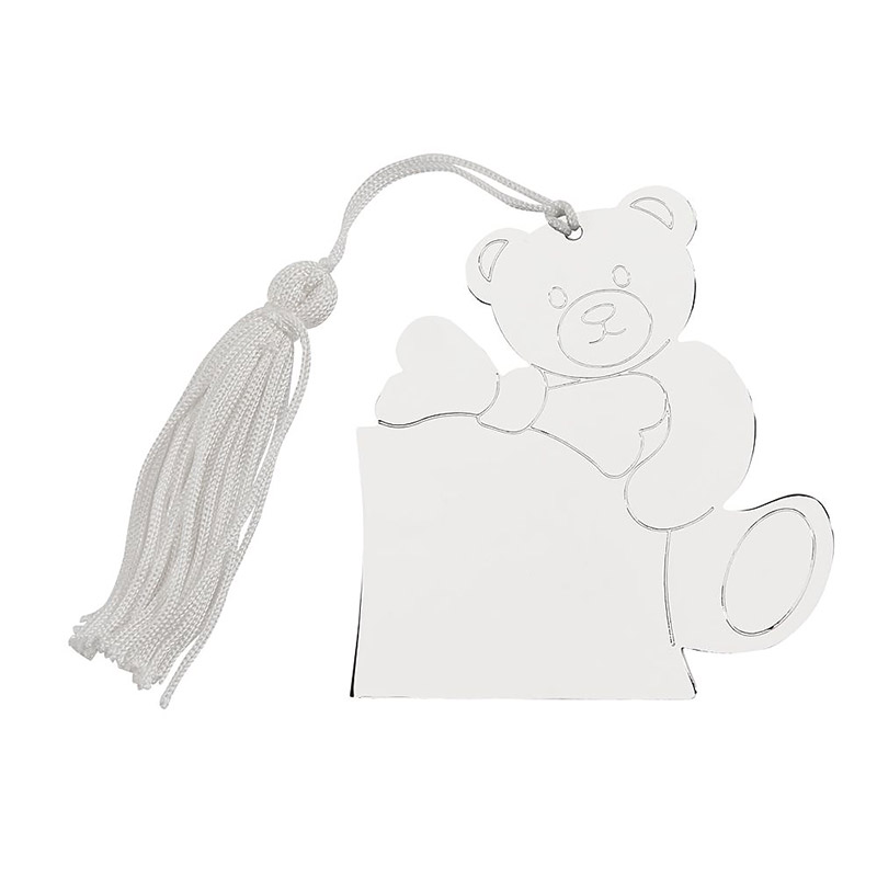 Sheridan Teddy Bear w/ White Tassel Ornament