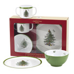 Spode Christmas Tree 3 Piece Dinner Set