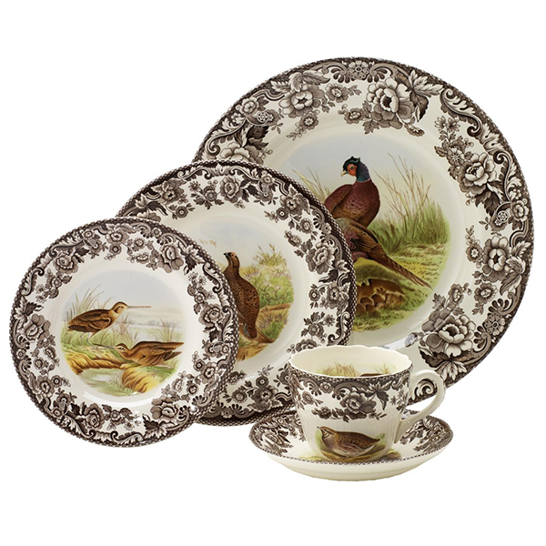 Spode Woodland 5pc Place Setting  sc 1 st  Silver Superstore & Spode Woodland 5pc Place Setting Dinnerware