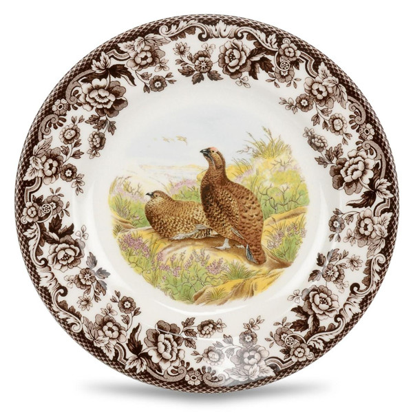 Salad Plate Red Grouse  sc 1 st  Silver Superstore & Spode Woodland Salad Plate Red Grouse Dinnerware