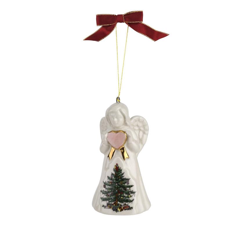 Christmas Tree, Angel Ornament | Spode Christmas Tree Decoration | Christmas Angel
