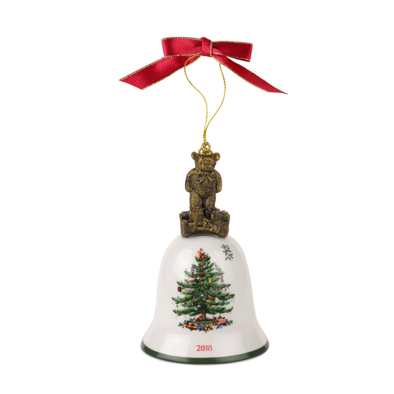 Spode Christmas Tree China Sale: Spode Christmas Tree, Annual Teddy Bear Bell Ornament 2018