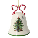 Spode Christmas Tree, Candy Cane Bell Ornament