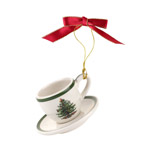 Spode Christmas Tree Cup and Saucer Ornament