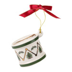 Spode Christmas Tree Drum Ornament