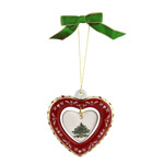 Spode Christmas Tree Heart Ornament