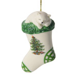 Spode Christmas Tree Kitten in Stocking Ornament